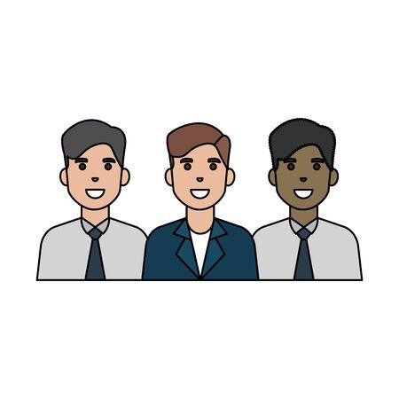 Avatar men design, Boys males friends person and human theme Vector illustration  イラスト・ベクター素材
