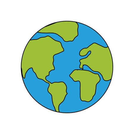 Planet sphere design, Continent earth world globe ocean and universe theme Vector illustration Иллюстрация