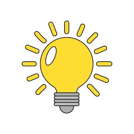 Light bulb design, Energy power technology electricity illumination and innovation theme Vector illustration