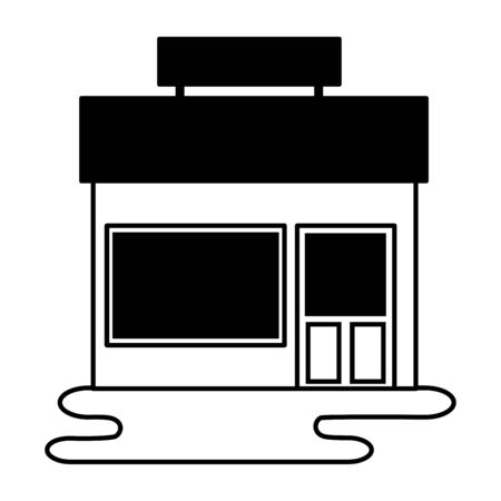 market store commerce facade city vector illustration