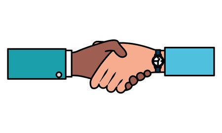 hands business persons done deal vector illustration design Çizim