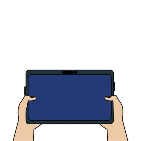 Conception de smartphone, communication de technologie numérique médias sociaux internet web et thème de l'écran Illustration vectorielle