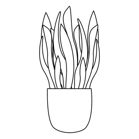 Plant inside pot design, Garden ornament nature botany natural and floral theme Vector illustration