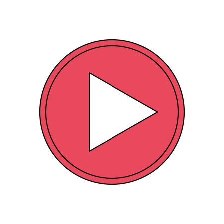 Social media and multimedia button, App communication and digital marketing theme Vector illustration 向量圖像