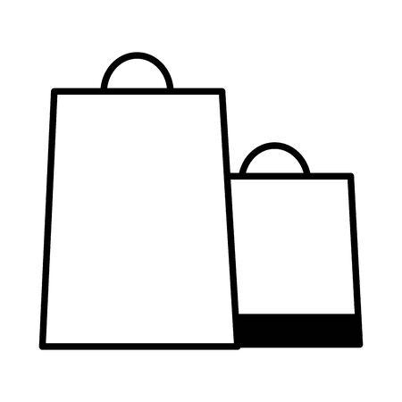 online shopping ecommerce paper bags vector illustration
