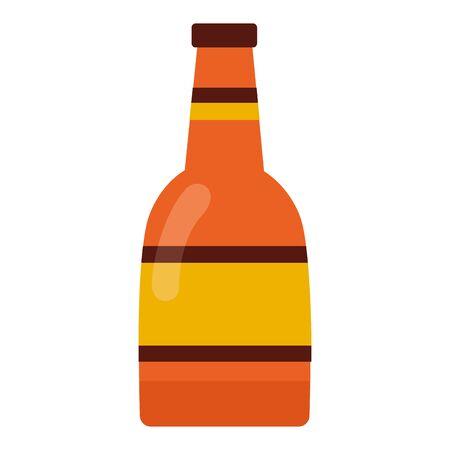 wine bottle drink on white background vector illustration