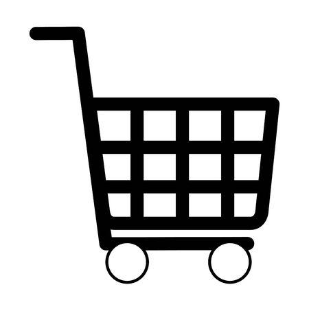 shopping cart ecommerce on white background vector illustration Ilustração