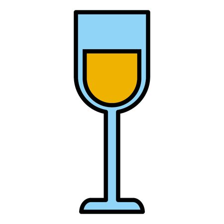 wine glass cup drink on white background vector illustration