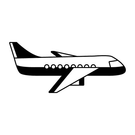airplane transport travel on white background vector illustration Иллюстрация