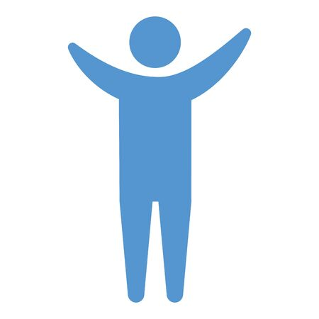 blue pictogram human man flat design white background vector illustration