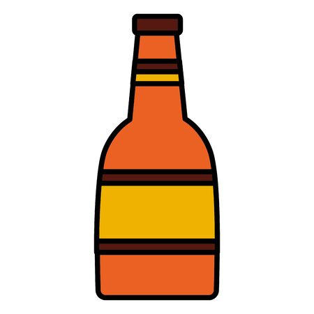 wine bottle drink on white background vector illustration