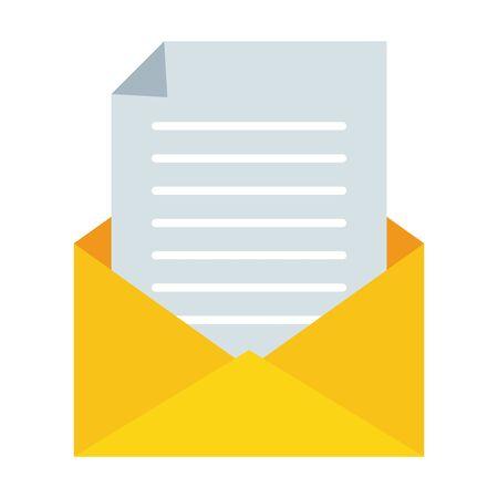 envelope paper letter send email vector illustration