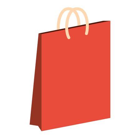 paper shopping bag on white background vector illustration Ilustração