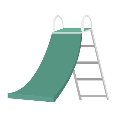 slide game kids zone on white background vector illustration