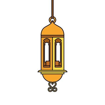 ramadan kareem lamp hanging decoration vector illustration design 스톡 콘텐츠 - 129499967