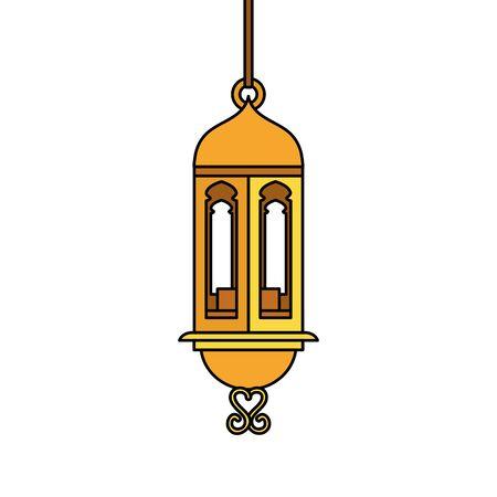 ramadan kareem lamp hanging decoration vector illustration design