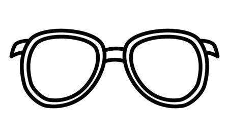 sunglasses vision accessory on white background vector illustration vector illustration 일러스트