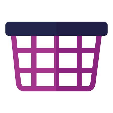 shopping basket market on white background vector illustration Ilustração