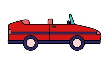 sport convertible car vehicle transport white background vector illustration