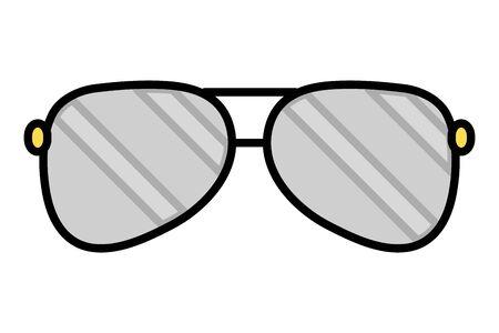 sunglasses vision accessory on white background vector illustration 일러스트