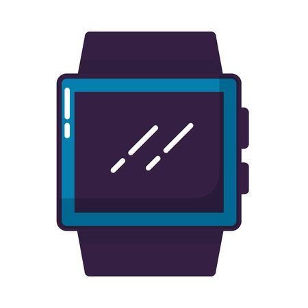 smart watch on white background vector illustration