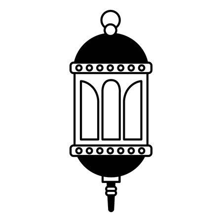 classic lantern decoration ornament on white background Illusztráció
