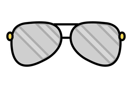 sunglasses vision accessory on white background vector illustration 向量圖像