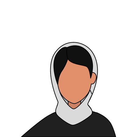 islamic woman with traditional burka vector illustration design  イラスト・ベクター素材