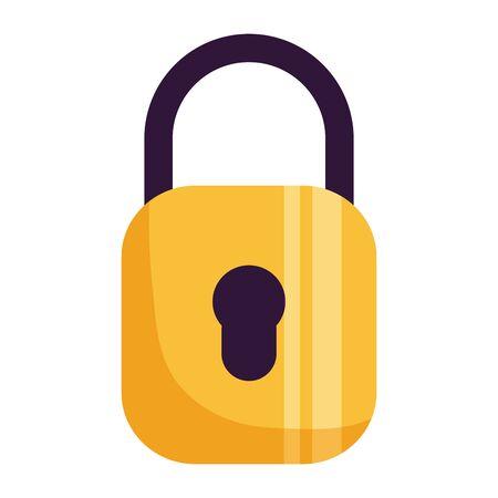 protection de sécurité cadenas sur fond blanc vector illustration Vecteurs