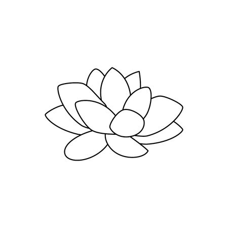 cute lotus flower isolated icon vector illustration design
