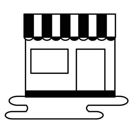 shopping and e-commerce store market vector illustration