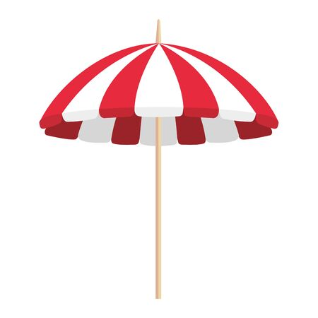 beach umbrella summer isolated icon vector illustration design