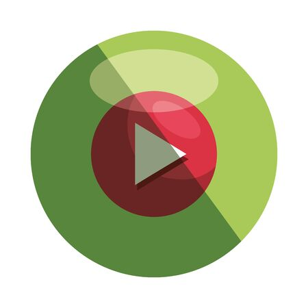 play button media player icon vector illustration design Banque d'images - 129501455