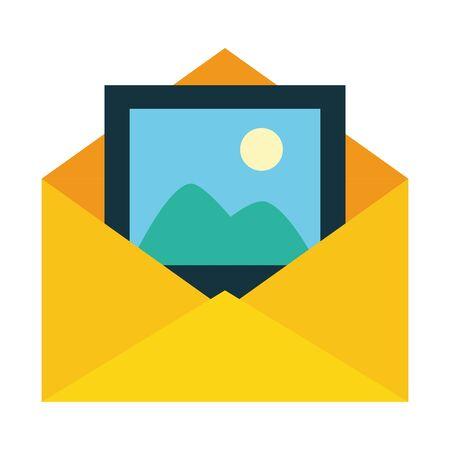envelope picture media web send email vector illustration Stockfoto - 129501506