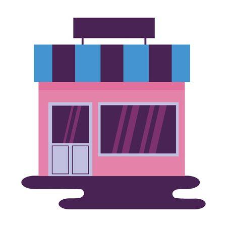 market store commerce facade city vector illustration Banque d'images - 132610080