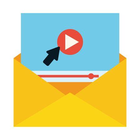 envelope click web send email vector illustration
