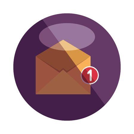 envelope mail with counter number vector illustration design Banco de Imagens - 129640204