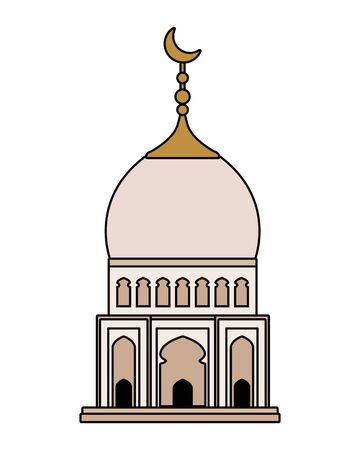 taj mahal mosque building icon vector illustration design Reklamní fotografie - 129640210