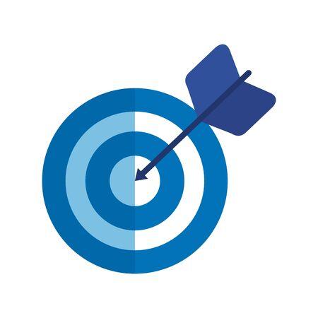 bersaglio freccia successo isolato icona illustrazione vettoriale design