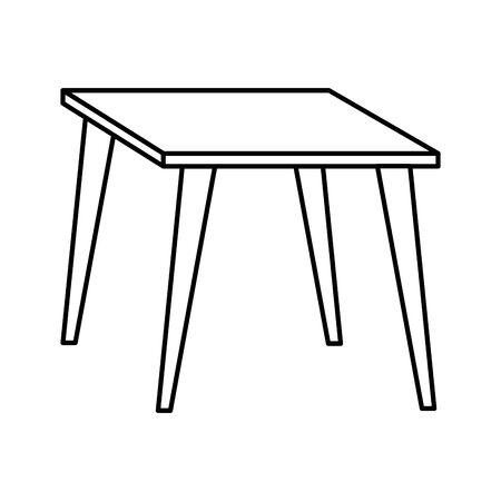 table wooden forniture isolated icon vector illustration design Archivio Fotografico - 129640754
