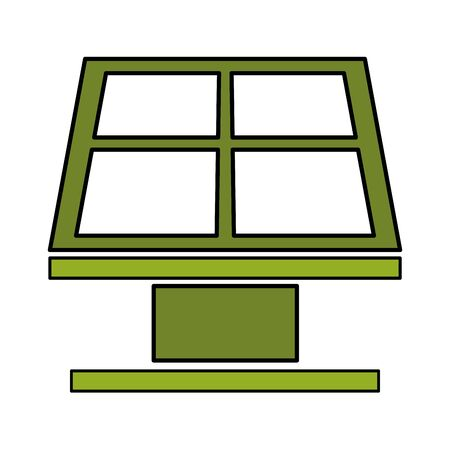 solar panel energy eco friendly environment vector illustration  イラスト・ベクター素材
