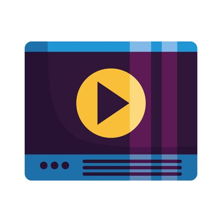 website video player on white background vector illustration