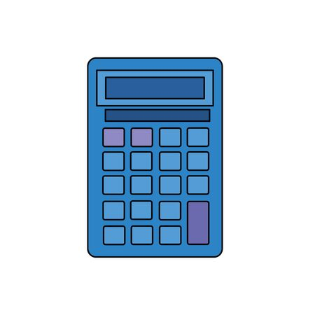 calculator math device isolated icon vector illustration design