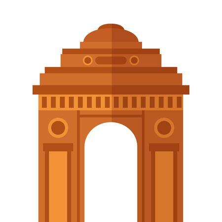 indian gateway building independence day icon vector illustration design Illustration