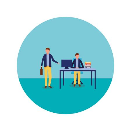 Businessmen design, Man business management corporate job occupation and worker theme Vector illustration