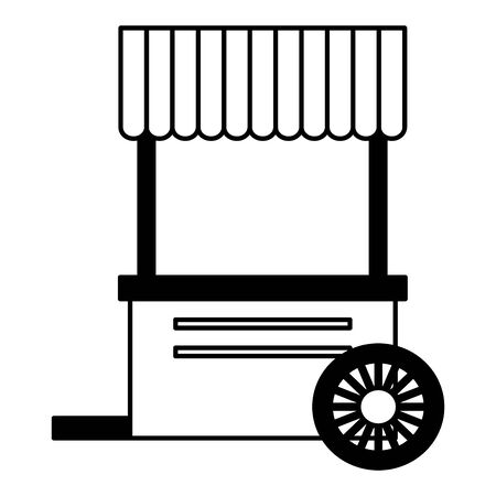 booth food on white background vector illustration