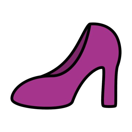 high heel shoe on white background vector illustration Stock fotó - 129507437