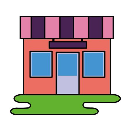 market store commerce facade city vector illustration Banque d'images - 129507438