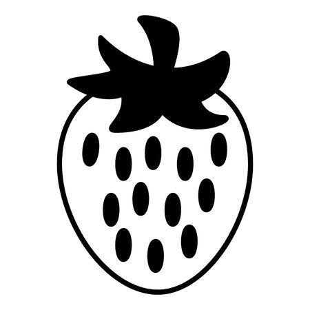 sweet fresh strawberry fruit tasty vector illustration