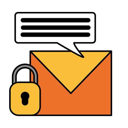 social media email security chat vector illustration Illusztráció